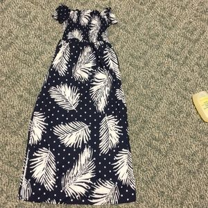 Yoinks off the shoulder maxi dress size xs NWT